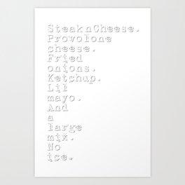 Order Up No.3 Art Print
