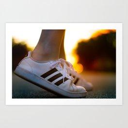 Sneaker Sunset Art Print