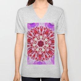 Royal Rose Radiant Orchid Kaleidoscope Unisex V-Neck