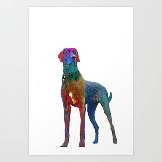 Great Dane Uncropped Art Print