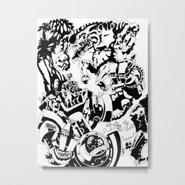 Doktor Steampug- Black and White Metal Print
