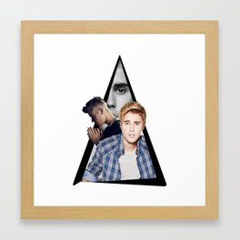 Youtriangle ∆ JustinBieber Framed Art Print