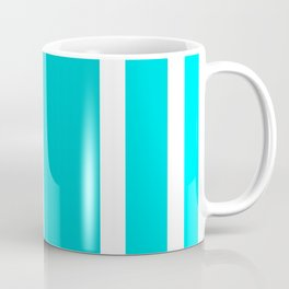 Striped Ombre in Turquoise Coffee Mug