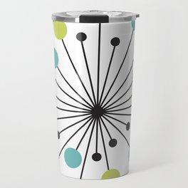 Atomic Age Nuclear Motif — Mid Century Modern Travel Mug