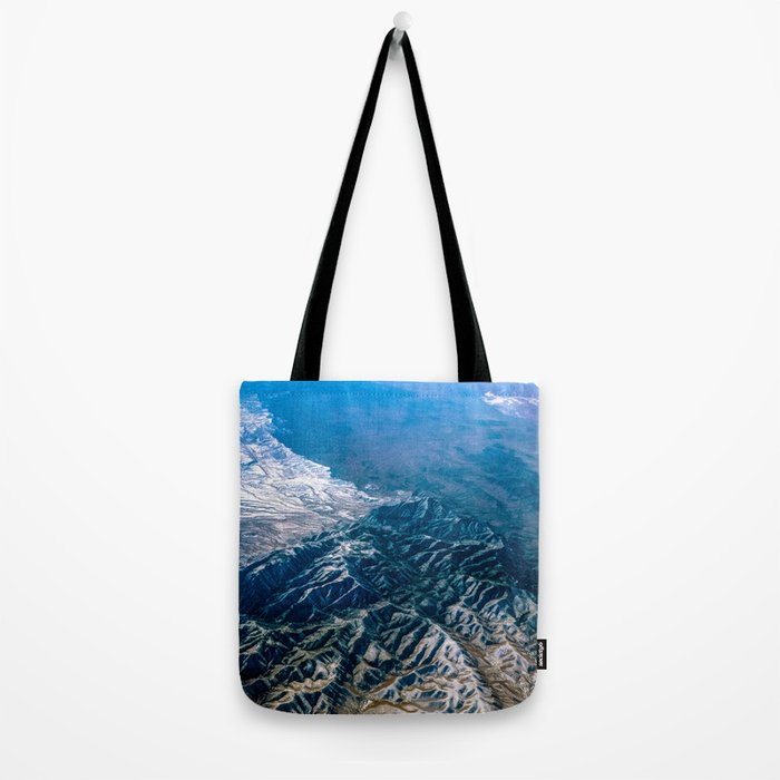 The Mountains Below Tote Bag