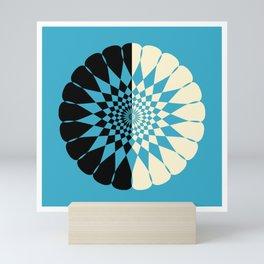 Half and Half in Blue Mini Art Print