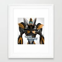 transformers Framed Art Prints featuring Transformers Prime by giftstore2u