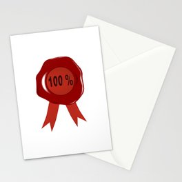 Wax Stamp 100 Percent Stationery Cards