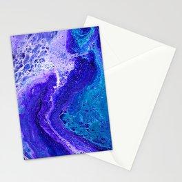 Purple Wave of Seafoam Stationery Cards