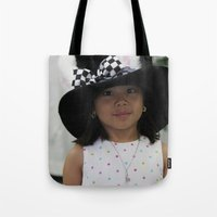 hat Tote Bags featuring Hat by Faith Buchanan