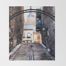 Old Quebec City Throw Blanket