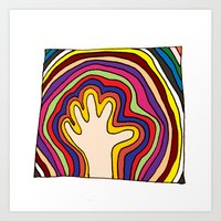 Handwave Art Print