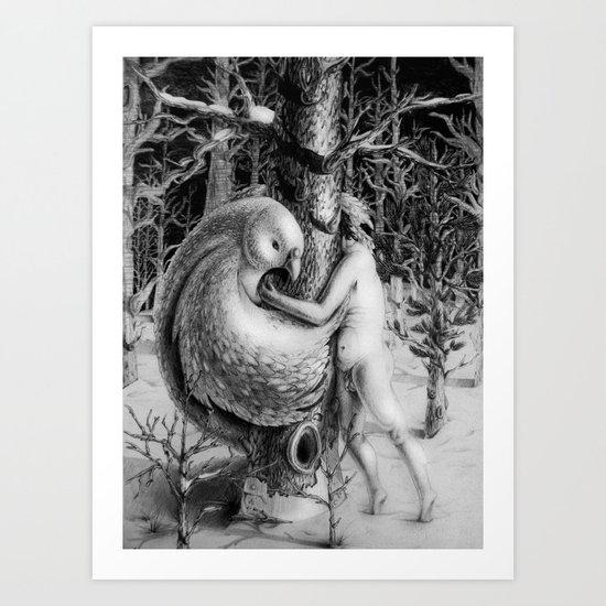 The shelter Art Print