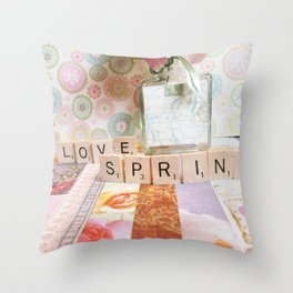 I Love Spring Throw Pillow