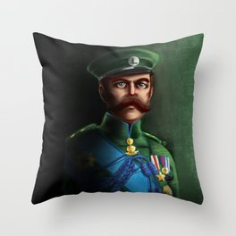 Lieutenant Luigi Throw Pillow