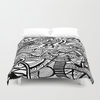 chaos Duvet Covers featuring chaos by Viyenno Design