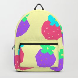 Strawberry Illustration Fruit Pattern - Words for a Lovely Couple from Colorful Strawberries Backpack