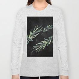 Eucalyptus leaves on chalkboard Long Sleeve T-shirt