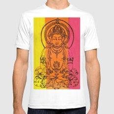 Buddha MEDIUM White Mens Fitted Tee