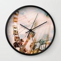 coachella Wall Clocks featuring Coachella by Tosha Lobsinger is my Photographer