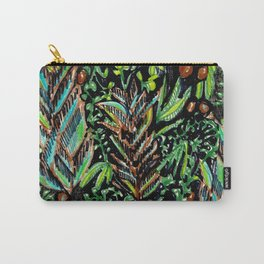 A Good Tropical Pattern With a Black Background is Hard to Find Carry-All Pouch