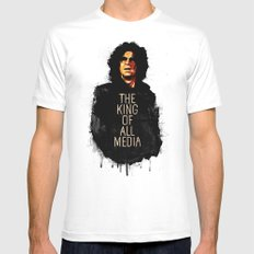 Howard Stern X-LARGE White Mens Fitted Tee