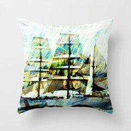 Coast Guards sailship Throw Pillow