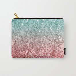Summer Vibes Glitter #2 #coral #mint #shiny #decor #society6 Carry-All Pouch