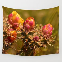 Cacti in Bloom - II Wall Tapestry