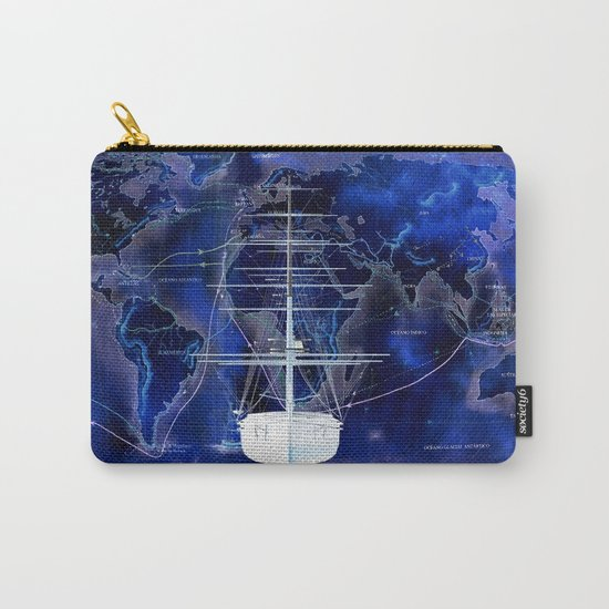 Discovery The World in Blue Carry-All Pouch