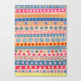 Fusion Multi Dots & Stripes #2 Canvas Print