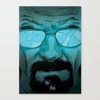 walter white Canvas Prints featuring Walter White by Guillaume Vasseur