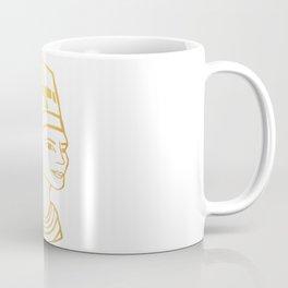 Golden Egyptian Queen Nefertiti Coffee Mug