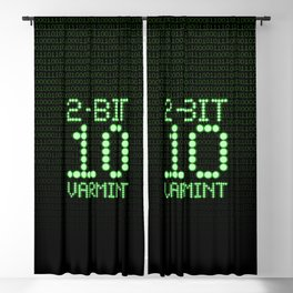 2-Bit Varmint / Binary vermin team code Blackout Curtain