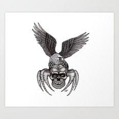 Spider-Skull and Eagle Art Print