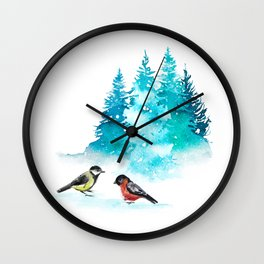 The Heart Of Winter Wall Clock