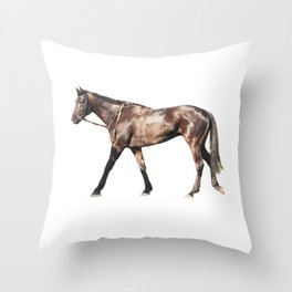 Thoroughbred Racehorse Throw Pillow