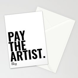 Pay The Artist Stationery Cards