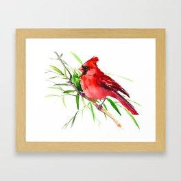 Cardinal Bird Framed Art Print