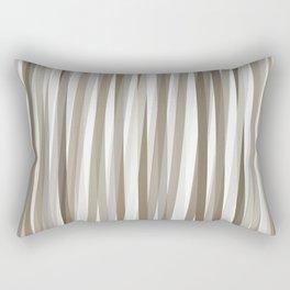 Stripes neutral graige beige gray  Rectangular Pillow