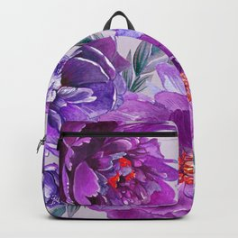 Violet and Purple Flowers Backpack