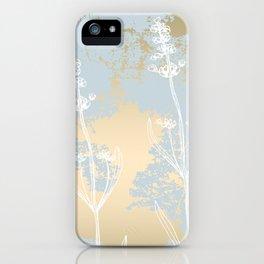 Lavender vintage gold iPhone Case