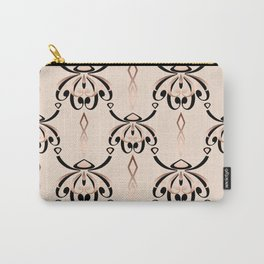 Black, beige, brown pattern in art Deco style. Carry-All Pouch