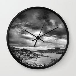 Lyttelton Harbour Skies Wall Clock