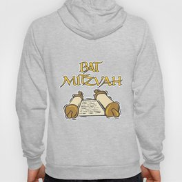 Bat Mitzvah with Scroll  Hoody