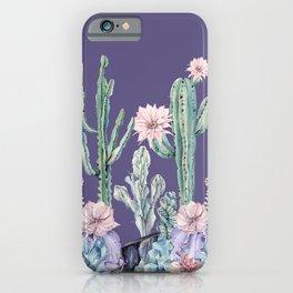 Desert Gemstone Oasis Purple iPhone Case