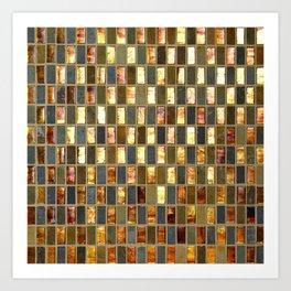 Black Gold Copper Tile Kunstdrucke