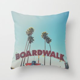 Santa Cruz boardwalk ... Throw Pillow