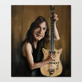 Malcolm Young Canvas Print