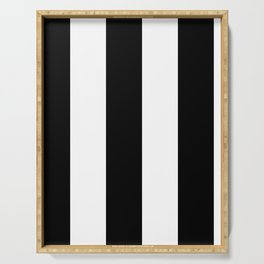 5th Avenue Stripe No. 2 in Black and White Onyx Serving Tray